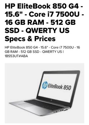 "New factory sealed Hp elitebook 850 g4 15.6"" i7 for Sale in Covina, CA"