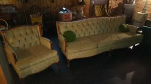 Vintage sofa and chair for Sale in Charlottesville, VA