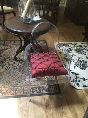 Clear plastic chair for Sale in Waxhaw, NC