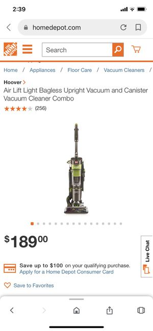 hoover vacuum like new condition serious buyer only please price is fix pick up from Renton for Sale in Renton, WA