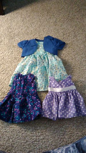 18 inch doll clothes - 3 outfits for Sale in Longmont, CO