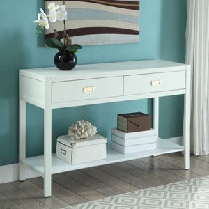 Linon Peggy Console Table, 2 Drawers and 1 Shelf, White for Sale in Norcross, GA