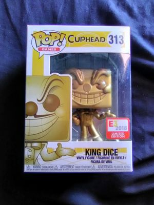 Cuphead E3 Gold king dice pop for Sale in Downey, CA