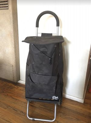 Like new Trolley Dolly, Black Shopping Grocery Foldable Cart for Sale in Fresno, CA