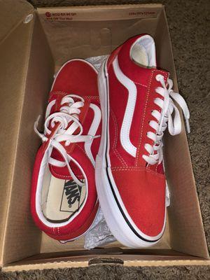 Red vans low top for Sale in Nashville, TN