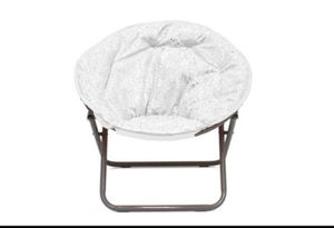 Faux Fur Foil Cheetah Kids Saucer Chair, (We have 2: White , Navy) 1C-1291 for Sale in St. Louis, MO