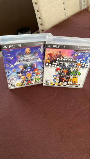 Kingdom hearts 2.5 and 1.5 remix PS3, clean discs! for Sale in Addison, IL