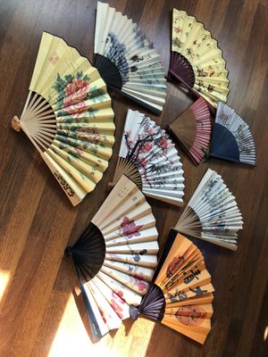 Chinese fan collection for Sale in Interlochen, MI