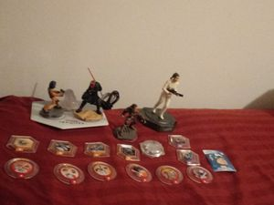 Disney Infinity figurines, display stand and misc accessories for Sale in Derby, KS