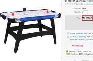 54in Large Air Powered Hockey Table for Events, Game Room, Office w/ 2 Pucks, 2 Pushers, Full Panel for Sale in Springfield, MO