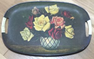 Vintage Floral vase of flowers theme Serving Tray with handles made in Japan for Sale in Parma Heights, OH