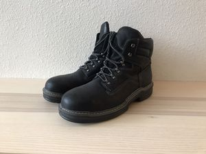 Wolverine Multishox Steel Toe Leather Black Work boots Sz 12 for Sale in Denver, CO