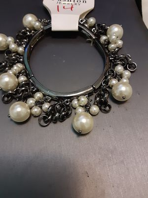 New pearl charm stretchable bracelet for Sale in Yonkers, NY
