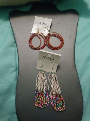 New 2 pairs beaded dangling earrings for Sale in Yonkers, NY