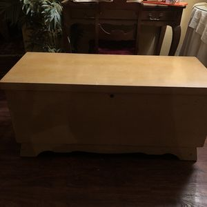 43x18x20 antique vintage mid-century modern hope cedar chest. 65.00 212 North Main Street. Buda 🍁Johanna. Furniture and collectibles for Sale in Sunset Valley, TX