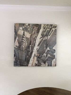 City aerial canvas for Sale in Houston, TX