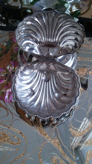 Vintage Queen Anne Silver Plated Shell Butter Dish for Sale in Portsmouth, VA