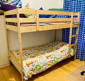 IKEA MYDAL Bunk bed frame, pine, Twin for Sale in Oviedo, FL