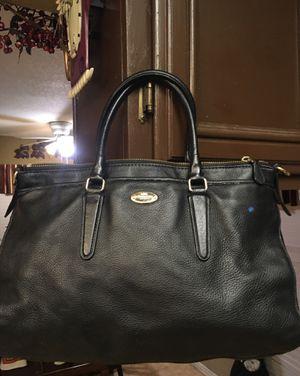 Coach black leather purse for Sale in Murrieta, CA