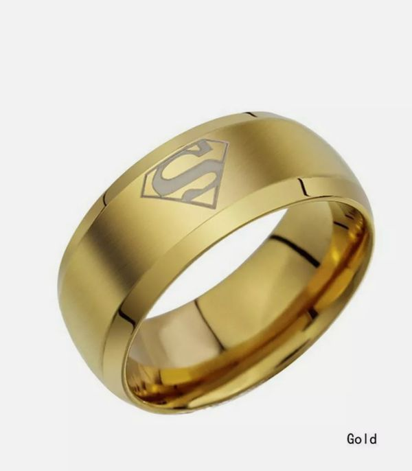 NWT Superman Stainless Steel Ring Sz 11