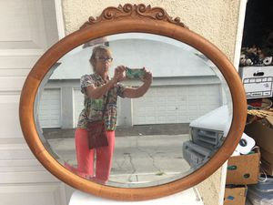 Antique wooden beveled mirror for Sale in Costa Mesa, CA