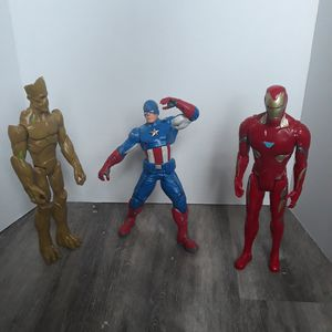 Marvel - DC - Action Figures - Captain America - Ironman - Hero figure - loose for Sale in Longmont, CO