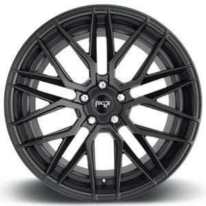 "4 Rims 19"" Staggered Niche M190 Gamma Matte Black Wheels and Tires Package for Sale in Boon, MI"