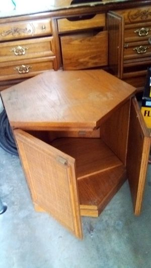 Teak solid wood end hex-table for Sale in Morrison, CO
