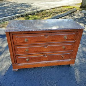 Vintage/antique marble top chest dresser entry table buffet console for Sale in Davie, FL