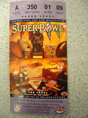 Rams Super Bowl XXXIV 2000 Ticket Stub for Sale in Collinsville, IL