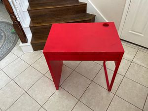 IKEA study desk with drawer, painted red for Sale in Sugar Land, TX