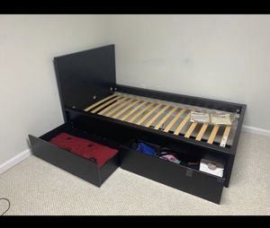 ikea bed with storage for Sale in Elkridge, MD