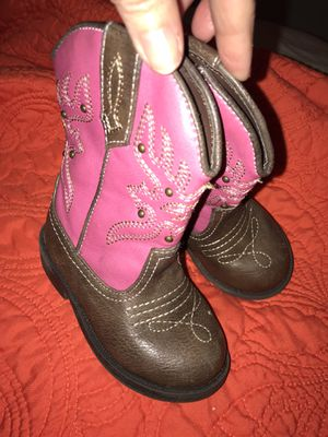Pink Little Girls Cowboy Cowgirl Boots Sz 5 🌷NINA Brand - SO CUTE! Really nice! for Sale in Savannah, GA