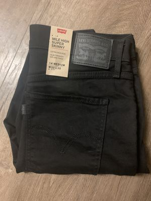 Levi's mile high super skinny black jeans size 32 NEW with tags for Sale in Round Rock, TX