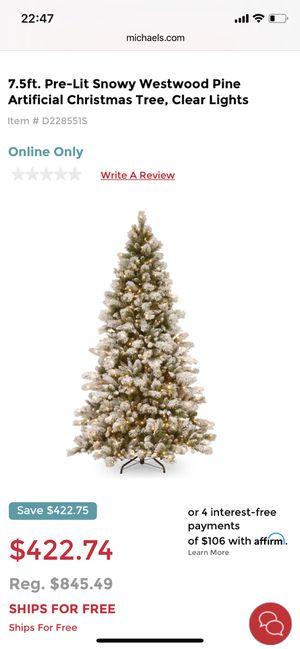 Christmas tree flocked 7.5 feet for Sale in Burbank, CA