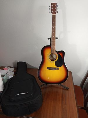 New York Pro Acoustic Guitar w/Gig Bag for Sale in Arlington, TX