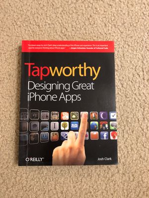 Tapworthy: Designing Great iPhone Apps for Sale in Santa Clara, CA
