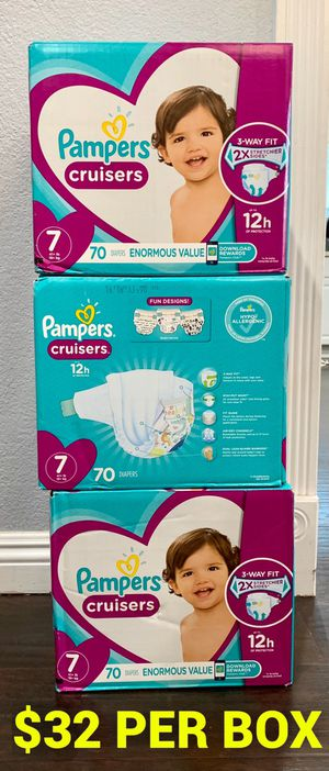 Pampers diapers size 7 for Sale in Long Beach, CA