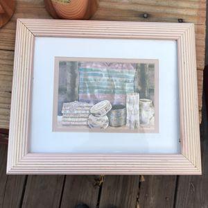 Desert Weavings by Helen Paul Framed in a Dusty Pink Frame for Sale in Denver, CO