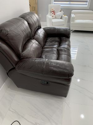 Two seater sofa manual recliner and three seater sofa reclining with power in for Sale in Medley, FL