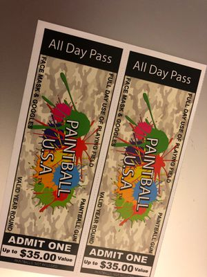 2x Paintball Tickets for Sale in Kissimmee, FL