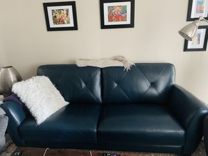 Macy's Myla Leather Sofa. for Sale in Denver, CO