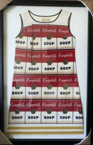Warhol Campbell's Soup Vintage paper souper Dress circa 1960s RARE for Sale in West Hollywood, CA
