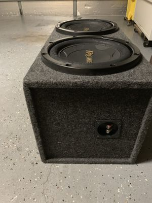 """Wood box and two 12"""" Speaker for Sale in Port St. Lucie, FL"""