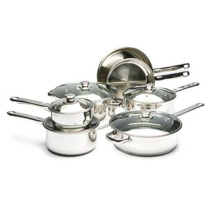 Cook's Tool Stainless Steel 12 Piece Pot Set for Sale in Chicago, IL