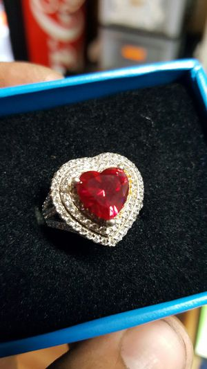 Victoria Wieck Ruby and white topaz heart for Sale in El Paso, TX