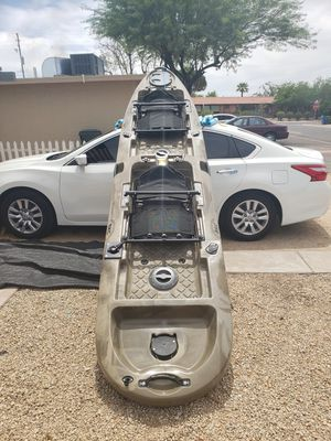 14 ft bkc tandem kayak with pedal drive for Sale in Phoenix, AZ