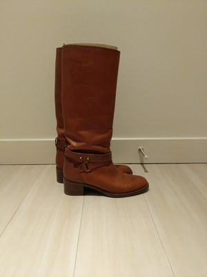 JCrew women's size 8 1/2 brown leather boots for Sale in Seattle, WA