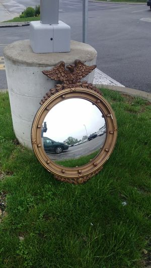 Antique round mirror with Eagle for Sale in Philadelphia, PA