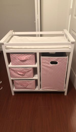 White changing table for Sale in North Miami Beach, FL